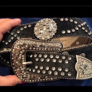 Western bling belt